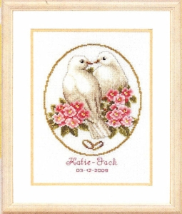 click here to view larger image of Doves of Love (counted cross stitch kit)
