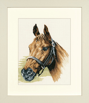 click here to view larger image of Horse's Head - 27ct (counted cross stitch kit)