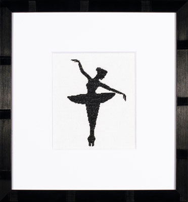 click here to view larger image of Ballet Silhouette 1 - 27ct (counted cross stitch kit)