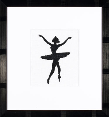 click here to view larger image of Ballet Silhouette 3 - 27ct (counted cross stitch kit)