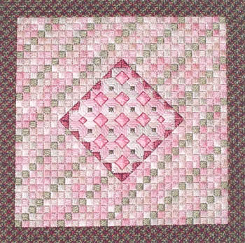 click here to view larger image of Rose Quartz (counted canvas work)