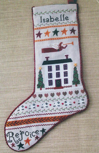 click here to view larger image of Folk Art Stocking (chart)