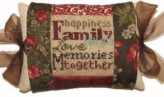 click here to view larger image of Family Tie One On (counted cross stitch kit)