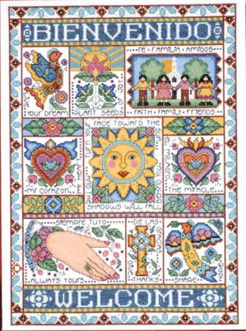 click here to view larger image of Caliente Bienvenido (Welcome) (counted cross stitch kit)