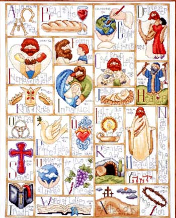 click here to view larger image of Inspirational ABC (counted cross stitch kit)
