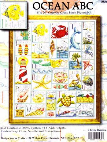 click here to view larger image of Ocean ABC (counted cross stitch kit)