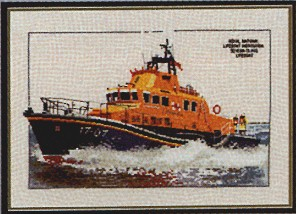 click here to view larger image of Severn Class Lifeboat (counted cross stitch kit)
