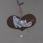 click here to view larger image of Rustic Heart With Playful Kitten (3.5 in) (accessory)