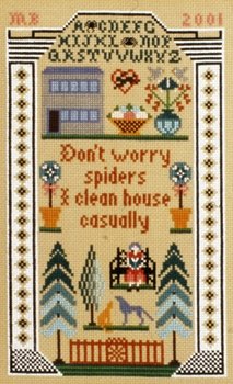 click here to view larger image of Don't Worry Spiders Sampler (chart)