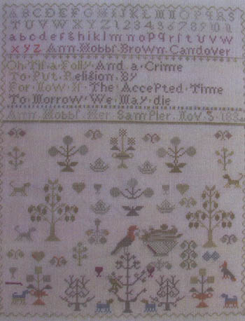 click here to view larger image of Antique Spring Sampler - Ann Hobbs 1834 (chart)