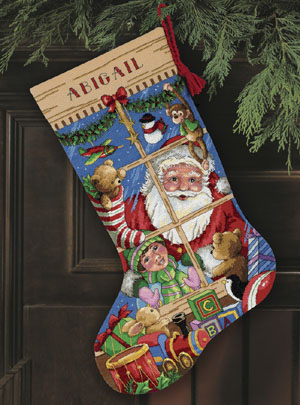 click here to view larger image of Santas Toys Stocking (counted cross stitch kit)