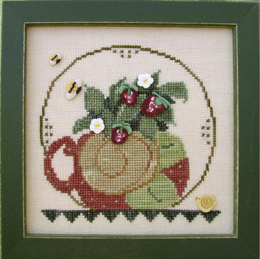 click here to view larger image of Cup of Tea - June  (button pack)