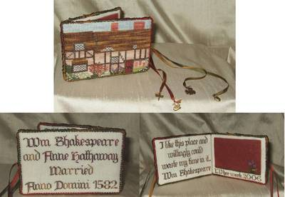 click here to view larger image of Anne Hathaway's Cottage Needlebook (chart with charms/buttons)