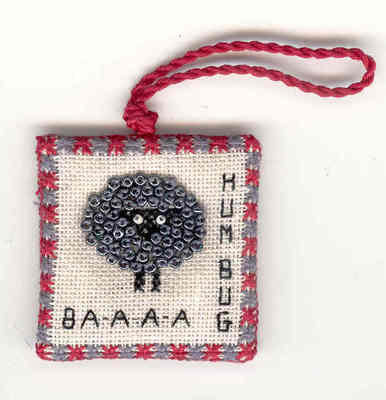 click here to view larger image of Baaa Humbug (counted cross stitch kit)
