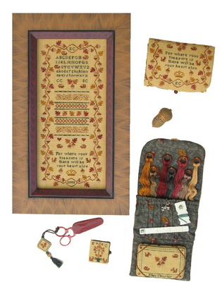 click here to view larger image of Acorn Sampler Sewing Case (chart)