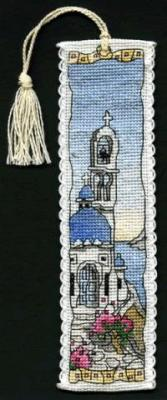 click here to view larger image of Greek Island Bookmark (counted cross stitch kit)