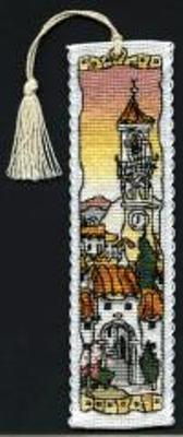 click here to view larger image of Spanish Hill Town  Bookmark (counted cross stitch kit)