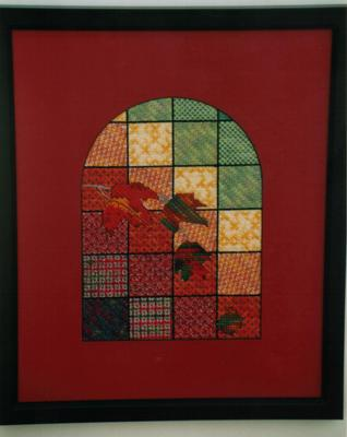 click here to view larger image of Autumn Leaves Stained Glass (counted canvas chart)