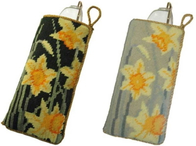 click here to view larger image of Daffodils Spectacles Case (needlepoint kits)