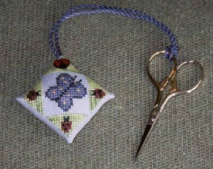 click here to view larger image of June Butterfly Scissor Fob (chart)