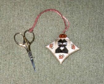 click here to view larger image of October Cat Scissor Fob (chart)