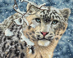 click here to view larger image of Snow Leopard  (counted cross stitch kit)