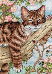 click here to view larger image of Napping Kitten (counted cross stitch kit)