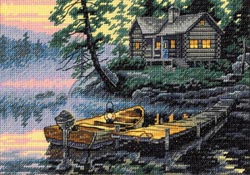 click here to view larger image of Morning Lake (counted cross stitch kit)
