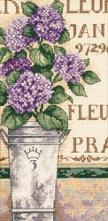 click here to view larger image of Hydrangea Floral (counted cross stitch kit)