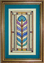 click here to view larger image of Stained Glass Feather Kit (counted cross stitch kit)
