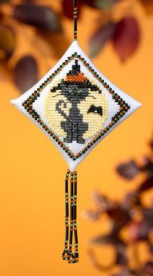 click here to view larger image of Kitty Witch (2009) (counted cross stitch kit)