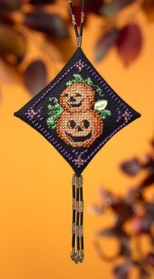 click here to view larger image of Pumpkin Duo (2009) (counted cross stitch kit)