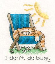 click here to view larger image of August Cat  - Calendar Cats series (chart)