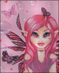 click here to view larger image of Pink Fairy with Bubbles  (chart)