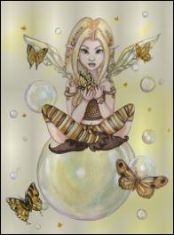 click here to view larger image of Gold Fairy with Bubbles  (chart)