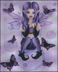 click here to view larger image of Purple Fairy with Bubbles  (chart)