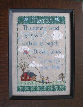 click here to view larger image of Monthly Sampler - March (chart)