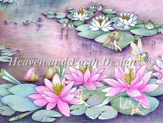 click here to view larger image of Fairies on Waterlilies (chart)