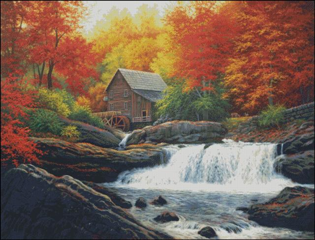 click here to view larger image of Glade Creek Grist MIll (chart)