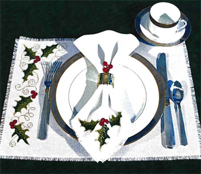 click here to view larger image of Holly Table Setting (chart)