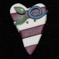 click here to view larger image of Flag Heart (buttons)