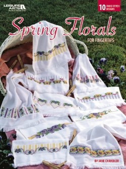 click here to view larger image of Spring Florals for Fingertips  (book)