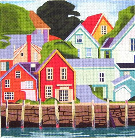 click here to view larger image of North Haven (hand painted canvases)