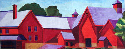 click here to view larger image of Muscoot Farm (hand painted canvas)