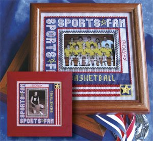 click here to view larger image of Sports Fan Frame - 2009 (counted cross stitch kit)