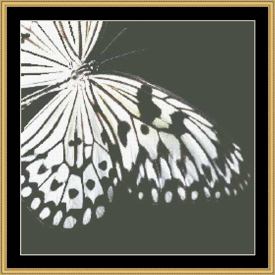 click here to view larger image of Black & White Butterfly  (chart)