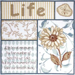click here to view larger image of Life's Moments (counted cross stitch kit)