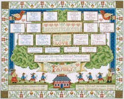 click here to view larger image of Family Tree (counted cross stitch kit)