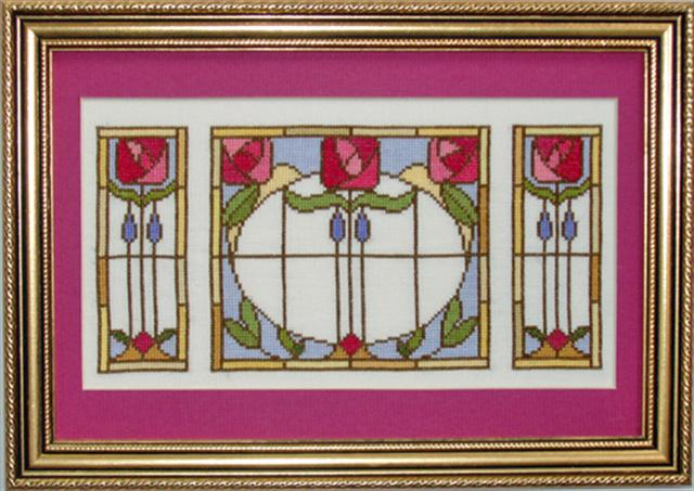 click here to view larger image of Antique Stained Glass Panel Kit (chart)