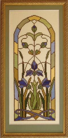 click here to view larger image of Iris Window (kit) (counted cross stitch kit)